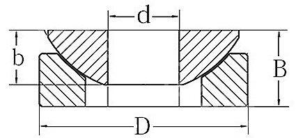 Technische Zeichnung Axialgelenklager GE 20 AX