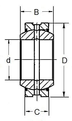 Technische Zeichnung Radialgelenklager GE 45 DO