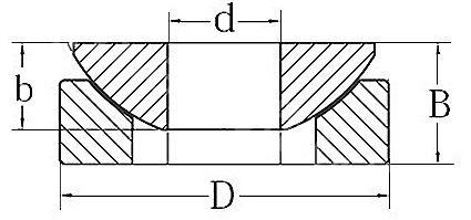 Technische Zeichnung Axialgelenklager wartungsfrei GE 50 AW
