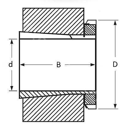 Technische Zeichnung Spannhülsen H 2305